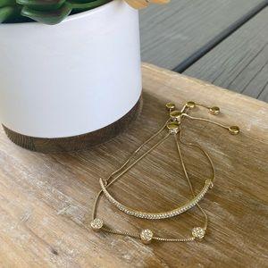 LOFT Set of Pave Slider Bracelets